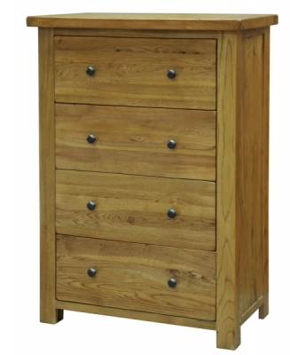 Salinas 4 Drawer Deep Oak Chest
