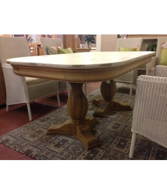 Lyon Shabby Chic Extending Dining Table - Clearance