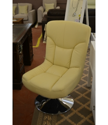 Pocco Cream Swivel Chair