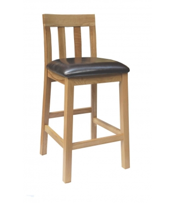 Jacob Leather Seat Barstool