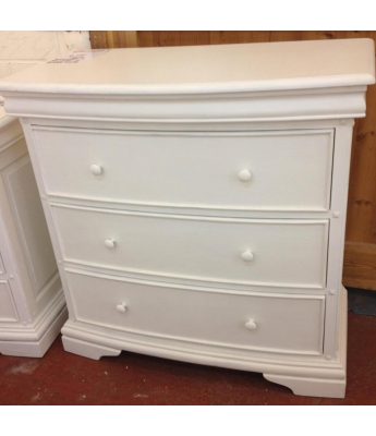Normandie Shabby White 4 Drawer Chest - Clearance