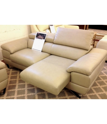 New Trend Concepts Spring 3 Seater Leather Sofa