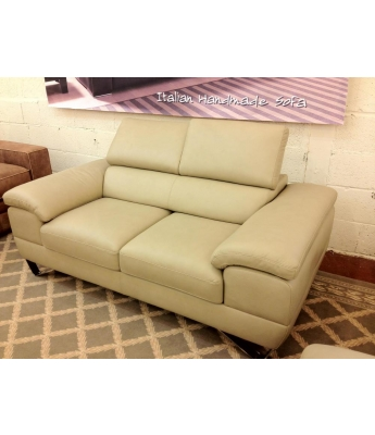 New Trend Concepts Spring 2 Seater Leather Sofa