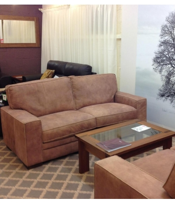 New Trend Concepts Regency 3 Seater Leather Sofa
