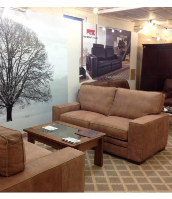 New Trend Concepts Regency 2 Seater Leather Sofa