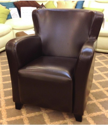 Winston Armchair in Brown Leather