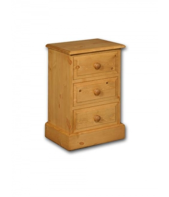 Meadow Pine 3 Drawer Bedside