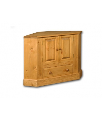 Meadow Pine Corner TV Unit with Panelled Doors