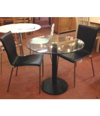 Montpellier 80cm Round Table (Clear Glass Top)