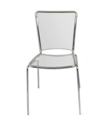 Crystal Chair in Chrome (Clear Polycarbonate Seat)