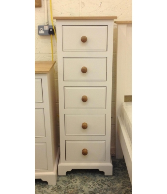 Fortune Woods Coast 5 Drawer Narrow Chest