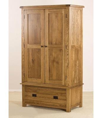 Montana Oak 1 Drawer Wardrobe