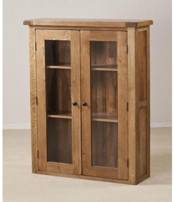 Montana 3ft Glass Door Oak Dresser Top