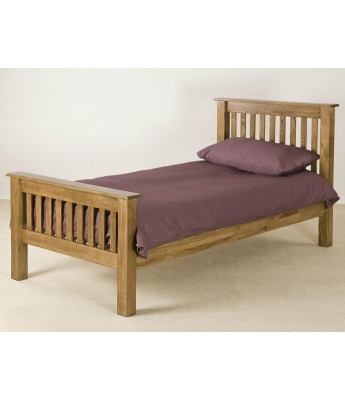 Montana Oak High Foot End Bed