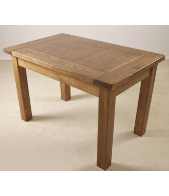 Fortune Woods Rustic 4ft x 2ft 6in Fixed Top Oak Table