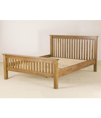 Fortune Woods Rustic 4ft 6in High End Bed