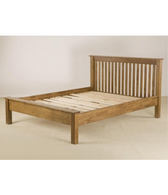 Fortune Woods Rustic 4ft 6in Low End Bed