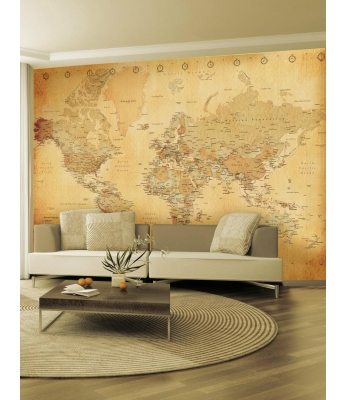 Vintage Map Wall Mural