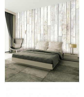 Whitewash Wood Wall Mural