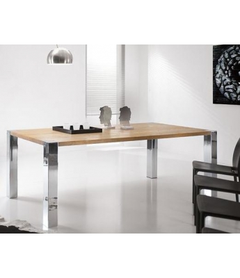 Conarte Vivido Steel Leg Table (Legs at Tabletop Level)