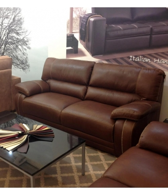 New Trend Concepts Antares 3 Seater Leather Sofa