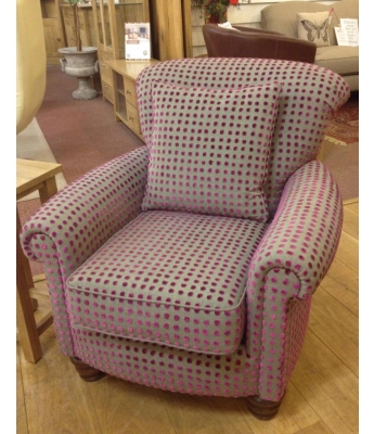 Ludlow Chair in Harlequin Spot