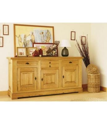 Carennac Large 3 Door 3 Drawer Oak Sideboard