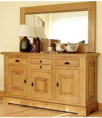 Carennac Mirror with Oak Frame