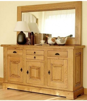 Carennac 3 Door 3 Drawer Oak Sideboard