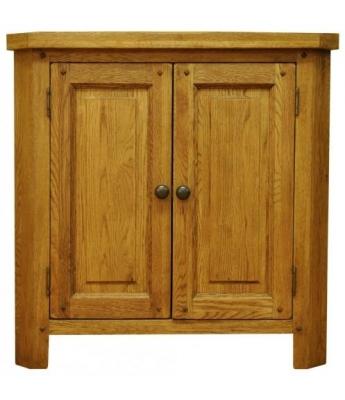 Malvern Small Oak Corner Cabinet