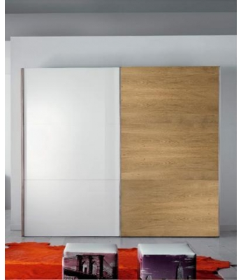 Conarte Moderno Wardrobe (Glass/Grey Glass and Wood Doors)