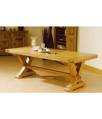 Carennac Oak X-Leg Dining Table