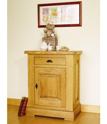 Carennac 1 Door 1 Drawer Oak Cupboard