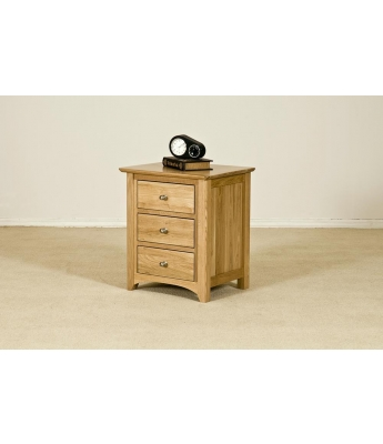 Fortune Woods Turpelo Oak 3 Drawer Bedside