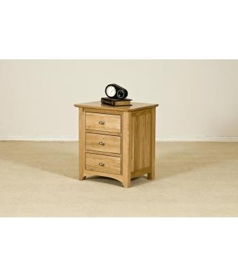 Fortune Woods Turpelo Oak 3 Drawer Bedside