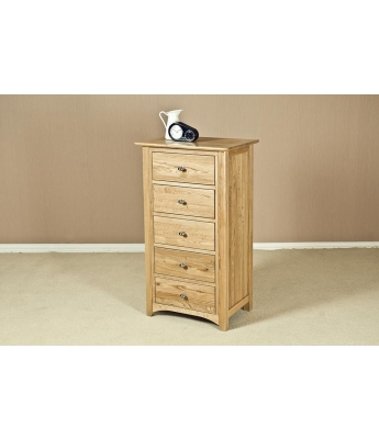Fortune Woods Turpelo Oak 5 Drawer Wellington