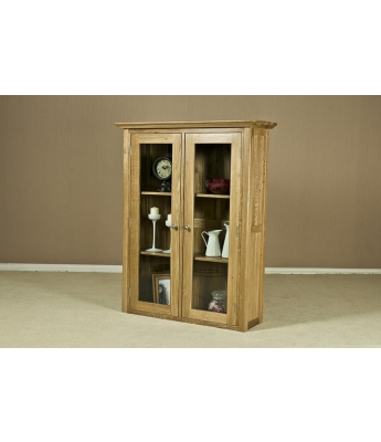 Turpelo Oak 3ft Glass Door Dresser Top