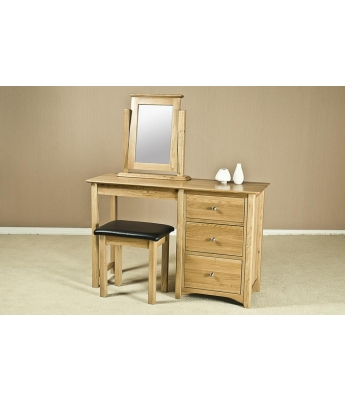 Turpelo Oak Single Dressing Table