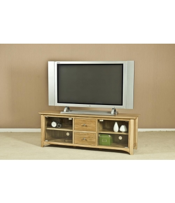 Turpelo Oak Large TV Unit with Glass Doors