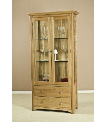 Turpelo Oak Glass Display Cabinet