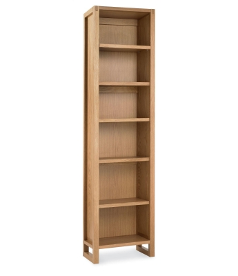 Stylus Oak Single Bookcase