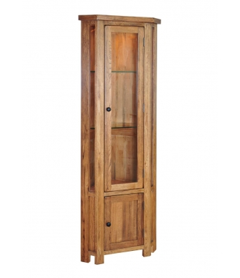 Montana Oak Corner Display Cabinet