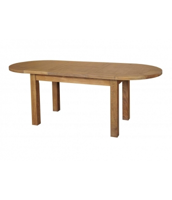 Montana Large D-End Oak Extending Table
