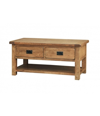 Montana Oak Coffee Table (2 Drawers)