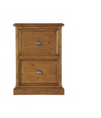 Irish Coast 2 Drawer Filing Cabinet (African Dusk Finish)