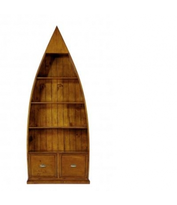 Irish Coast 4 Shelf Dinghy Bookcase (African Dusk Finish)