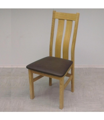 Utah Twin Slat Oak Dining Chair