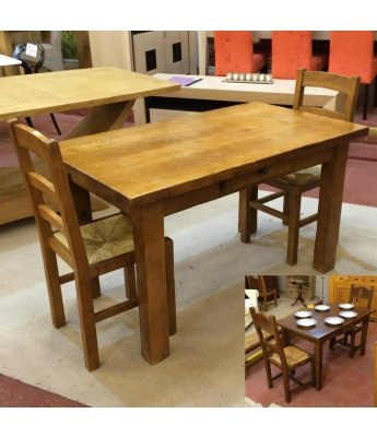 Antix Small Solid Oak Table with Drawer