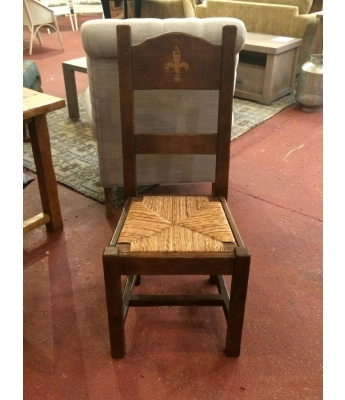 Antix Oak Fleur De Lis Chair
