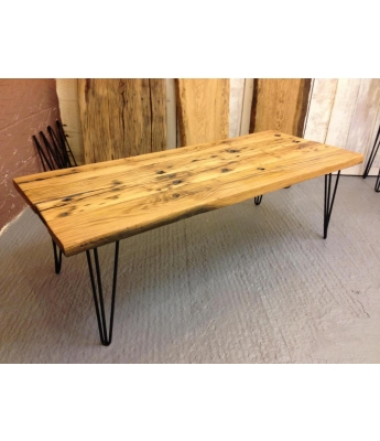 French Oak Railway Carriage Boards Coffee Table